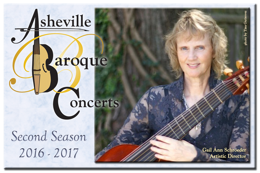 Asheville Baroque Concerts 2nd Season 2016 - 17